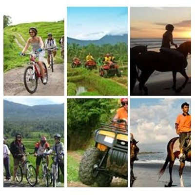 Bali Cycling, ATV Ride and Horse Riding Tour