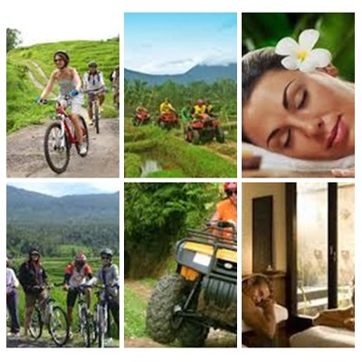 Bali Cycling, ATV Ride and Spa Packages Tour