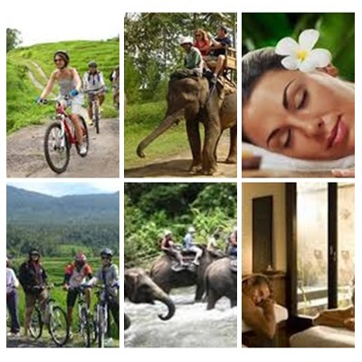 Bali Cycling, Elephant Ride and Spa Tour