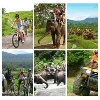 Bali Cycling, Elephant and ATV Ride Tour