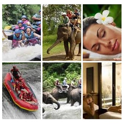 Bali Rafting, Elephant Ride and Spa Tour