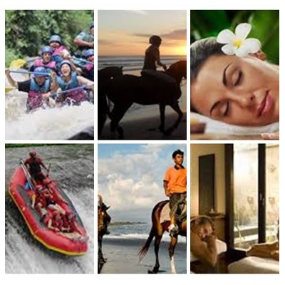 Bali Rafting, Horse Riding and Spa Tour