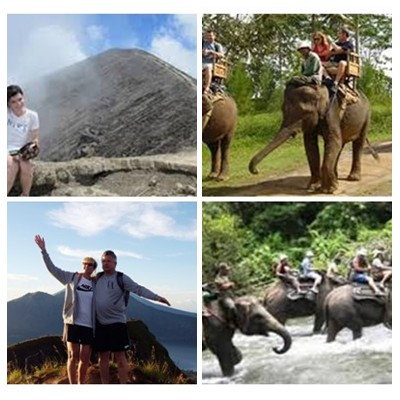 Bali Trekking and Elephant Ride Tour