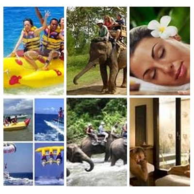 Bali Water Sports, Elephant Ride and Spa Tour