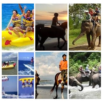 Bali Water Sports, Horse Riding and Elephant Ride Tour