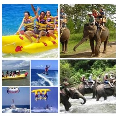 Bali Water Sports and Elephant Ride Tour