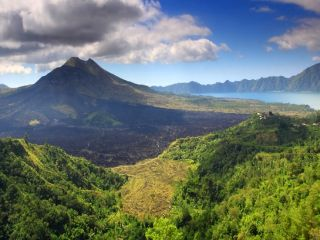 Kintamani Village for Mount Batur Volcano and Lake Batur View